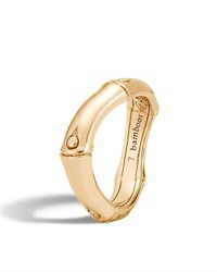 John Hardy Bamboo 18K Gold Curved Band Ring
