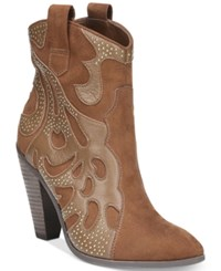 Carlos By Carlos Santana Sterling Western Booties Women's Shoes Burbon