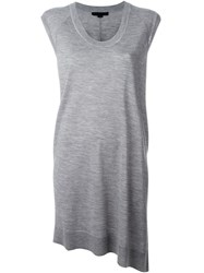 Alexander Wang Scoop Neck Knit Top Grey