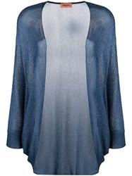 Missoni Knitted Cardigan Blue