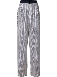 Maiyet Striped Wide Leg Trousers Blue