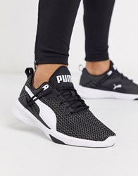 Puma Aura Xt Performance Trainers In Black And White