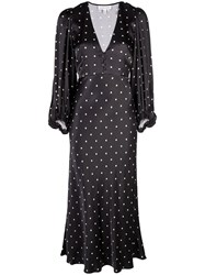 Shona Joy Polka Dot Empire Dress Blue