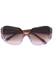 Courreges Square Sunglasses Women Acetate One Size Pink Purple