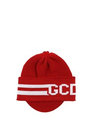 Gcds Classic Wool Blend Balaclava Red