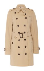 Burberry Sandringham Double Breasted Trench Coat Tan