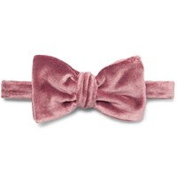 Brioni Pre Tied Cotton And Silk Blend Velvet Bow Tie Pink