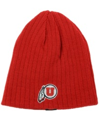 Top Of The World Utah Utes Roust Reversible Knit Hat Red Black