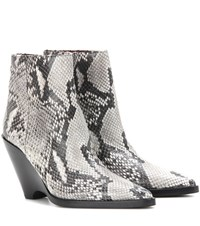 Acne Studios Caroline Embossed Leather Ankle Boots Grey