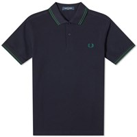 Fred Perry Authentic Slim Fit Twin Tipped Polo Blue