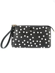 Dolce And Gabbana Polka Dot Clutch Bag Black