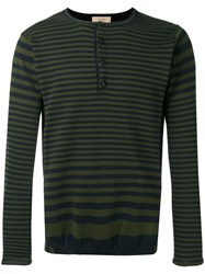 Maison Flaneur Striped Sweater Black