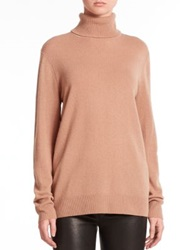 Equipment Oscar Cashmere Turtleneck Sweater Camel