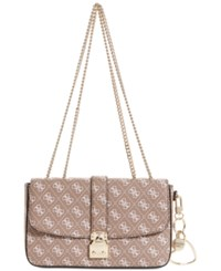 Guess Joslyn Small Signature Crossbody Mocha