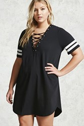 Forever 21 Plus Size Strappy T Shirt Dress