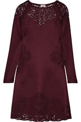 Temperley London Sami Laser Cut Scuba Dress Purple