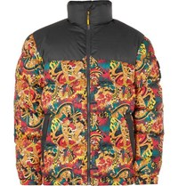 e850da3bf9 The North Face 1992 Nuptse Printed Quilted Shell Down Jacket Yellow