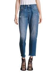 Levi's Wedgie High Rise Icon Cropped Boy Fit Jeans Crisp Wind