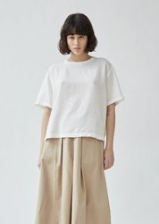 Blue Blue Japan Linen And Rayon T Shirt White