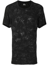 Lost And Found Ria Dunn Stain Effect T Shirt Cotton Black