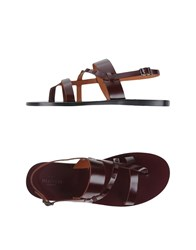 Valentino Garavani Footwear Thong Sandals Men Deep Purple