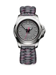 Victorinox I.N.O.X. Analog Paracord Bracelet Watch Grey