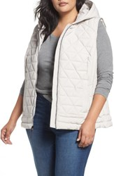 Andrew Marc New York Plus Size Women's Sage Quilted Vest Fog