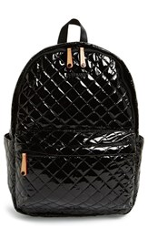 M Z Wallace Mz Wallace 'Metro' Quilted Oxford Nylon Backpack Black Black Lacquer Quilted