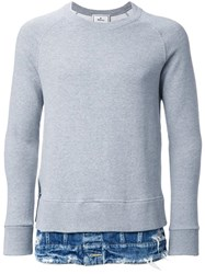 Miharayasuhiro Layered Detail Sweatshirt Grey