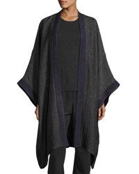 Eskandar Double Layer Linen Gauze Jacket Gray Purple Gray Purple