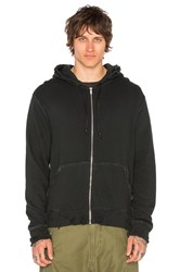 R 13 Vintage Zip Up Hoodie Black