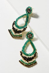 Anthropologie Marron Beaded Drop Earrings Turquoise