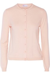 Red Valentino Cashmere And Silk Blend Cardigan Pink