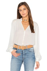 Free People Canyon Rose Button Down Top Ivory