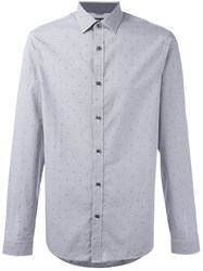 Michael Michael Kors Slim Fit Checked Shirt Grey