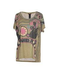 Custo Barcelona T Shirts Military Green