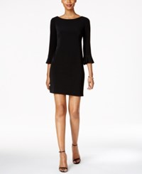 Jessica Howard Petite Bell Sleeve Sheath Dress Black