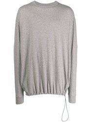 Unravel Project Drawstring Sweatshirt Grey