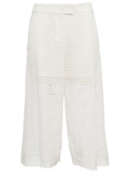 French Connection Holiday Lace Gaucho Flared Trousers Summer White