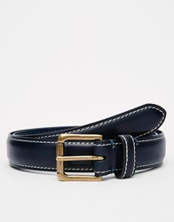 Racing Green Leather Belt Blue