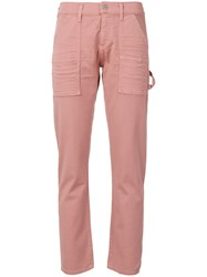 Citizens Of Humanity Cropped Slim Fit Jeans Pink And Purple