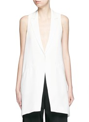 Elizabeth And James 'Neema' Crepe Sleeveless Long Vest White