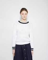 Vanessa Seward Open Knit Pullover Sweater