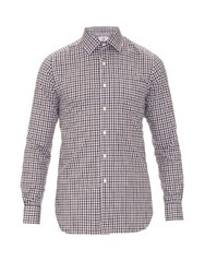 Dunhill Checked Cotton Shirt Brown Multi