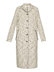 Nina Ricci Single Breasted Tweed Coat