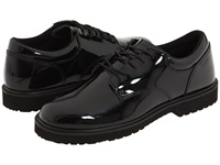 Bates Footwear High Gloss Uniform Oxford Black Men's Dress Flat Shoes