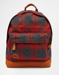 Mi Pac Plaid Red Backpack Red