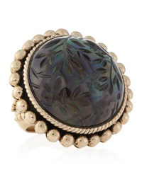 Stephen Dweck Smoky Quartz Carved Ring 6
