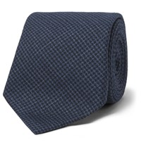 Brunello Cucinelli 7Cm Linen Wool And Silk Blend Tie Blue