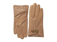 Ted Baker Bowra Metal Bow Leather Gloves Mink Extreme Cold Weather Gloves Brown